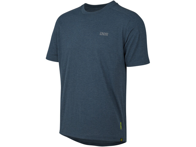IXS Flow Tech Brand Logo SS Tee Men, niebieski
